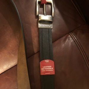 New with tag dickies brown and black leather belt